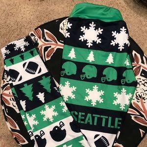 Pants - Seattle Seahawks Ugly Sweater Leggings